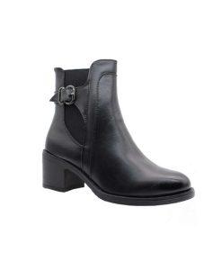 Tsimpolis Shoes TS20801 Μποτάκι Από Τεχνόδερμα Μαύρο
