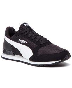 puma st runner v2 mesh andriko athlitiko mayro aspro tsimpolis shoes