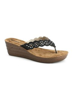 inblu dermatinh anatomikh pantofla mayrh tsimpolis shoes