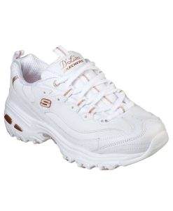 skechers d'lite fresh start gynaikeio leuko