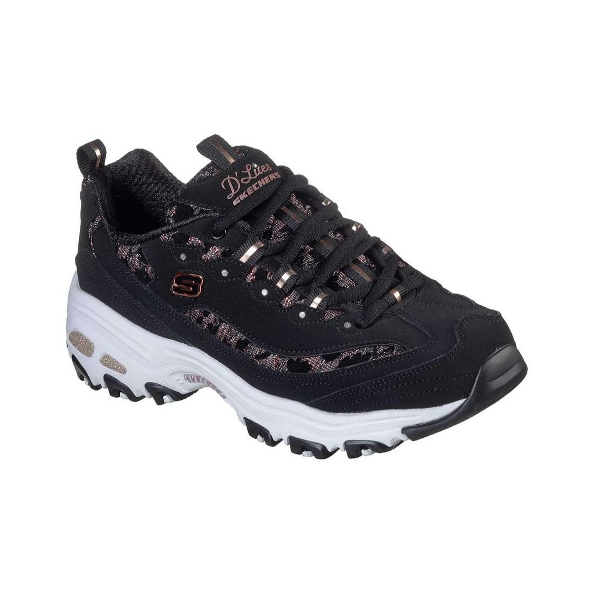 Skechers D'Lites 149099 BKRG Γυναικείο Sneaker Fancy Leopard