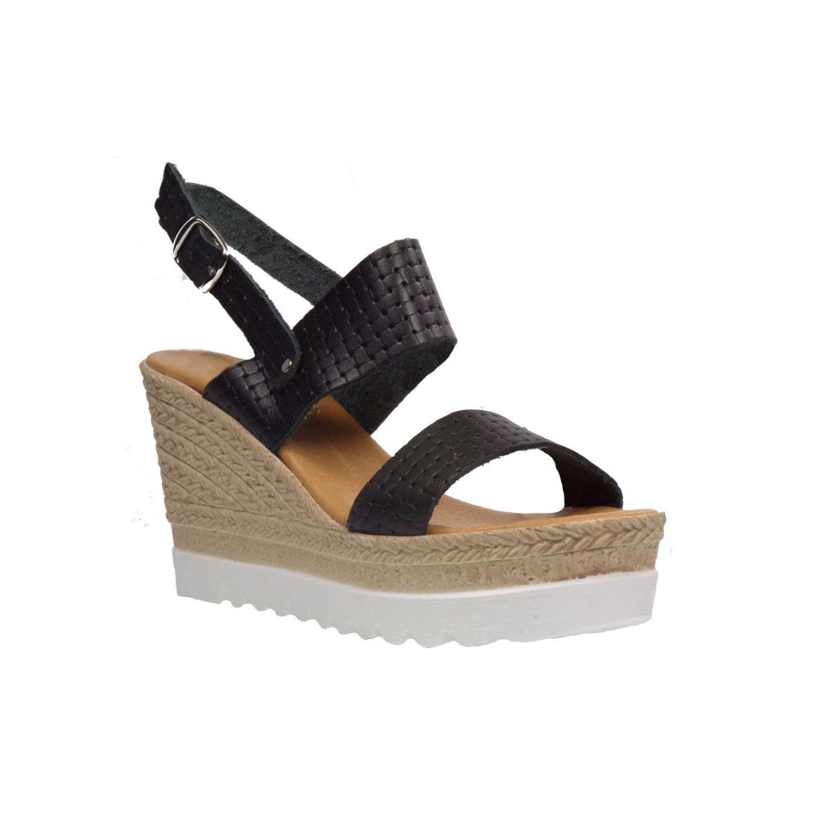 6ed0e42bf2 Tsimpolis Shoes 536 Πλατφόρμα Απο Γνήσιο Δέρμα Μαύρη