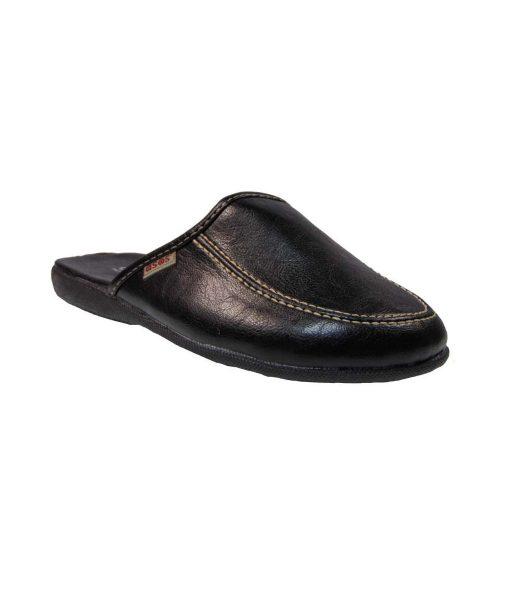 tsimpolis shoes pantofla spitiou apo adiabroxo sunthetiko derma mayro
