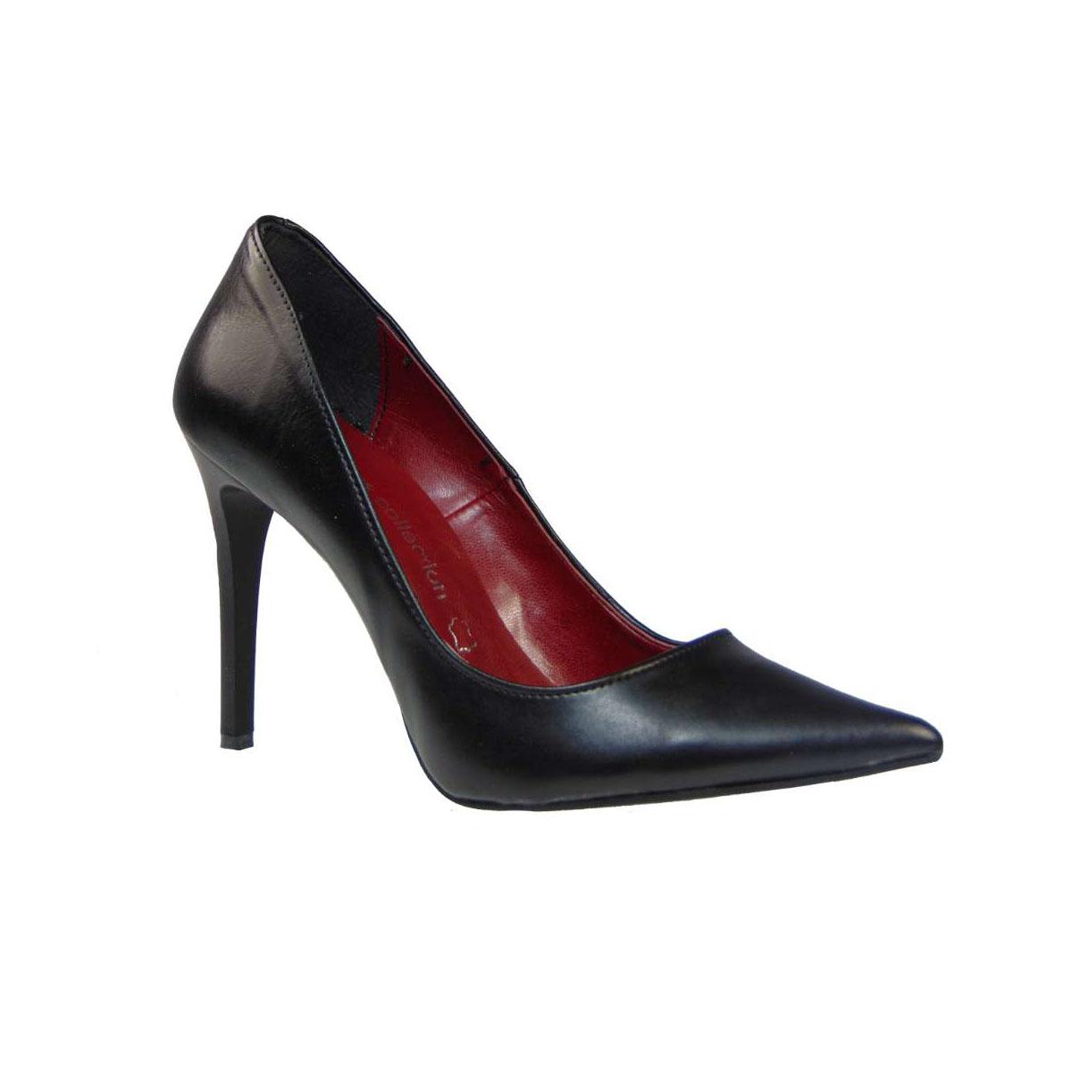 Tsimpolis Shoes 191 Γόβα Απο Συνθετικό Δέρμα Μαύρη