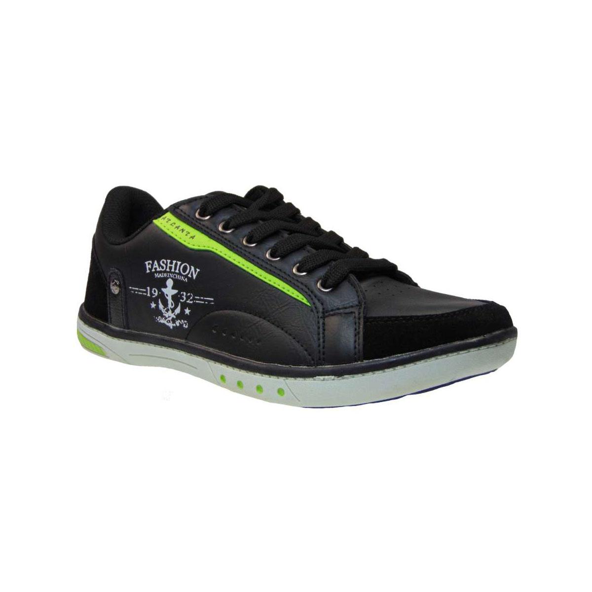 4ad15699fac Atlanta 15K Sneaker Απο Συνθετικό Αδιάβροχο Δέρμα Μαύρο | Tsimpolis.gr