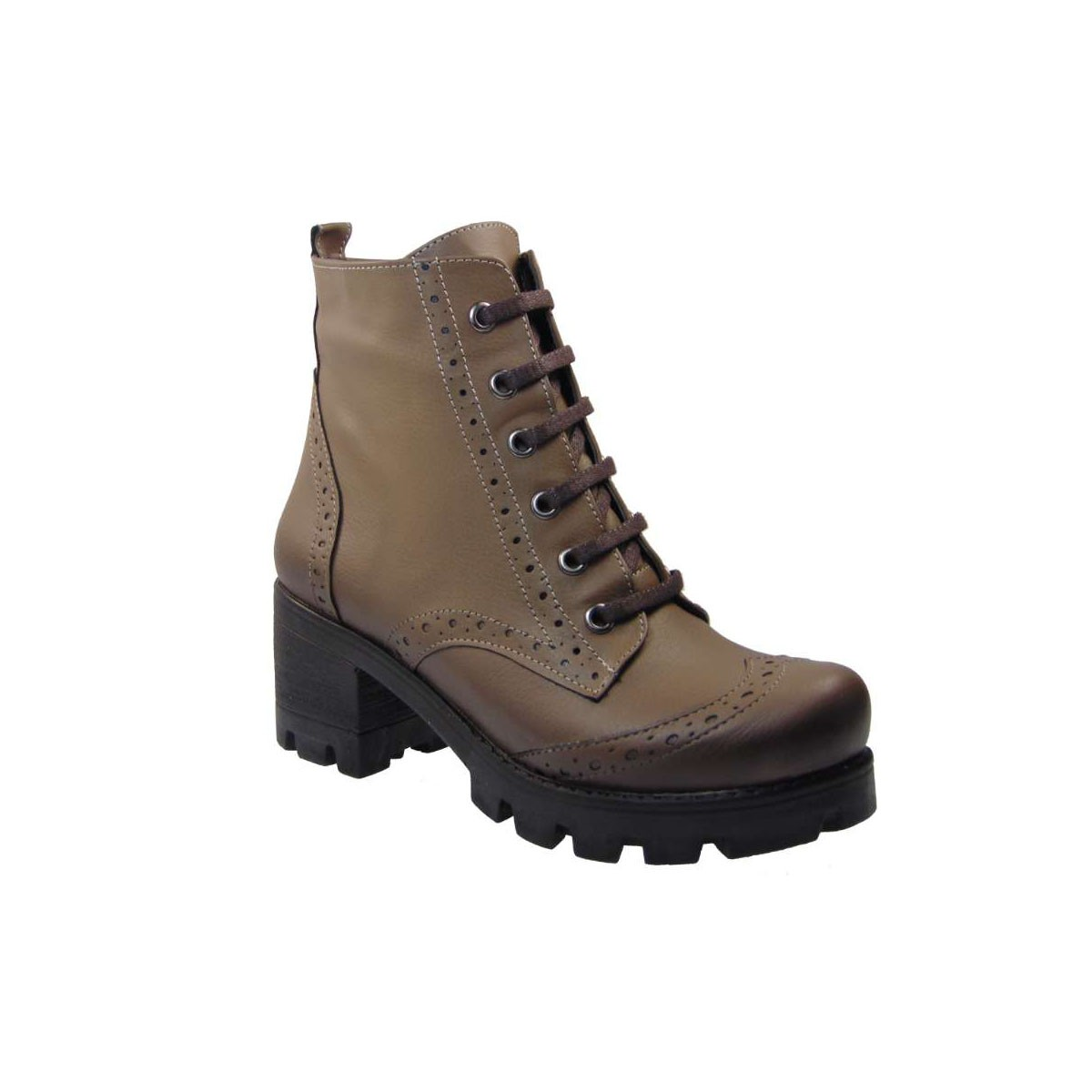 Tsimpolis Shoes 0107 Oxford Μποτάκι Απο Συνθετικό Αδιάβροχο Δέρμα Μπεζ