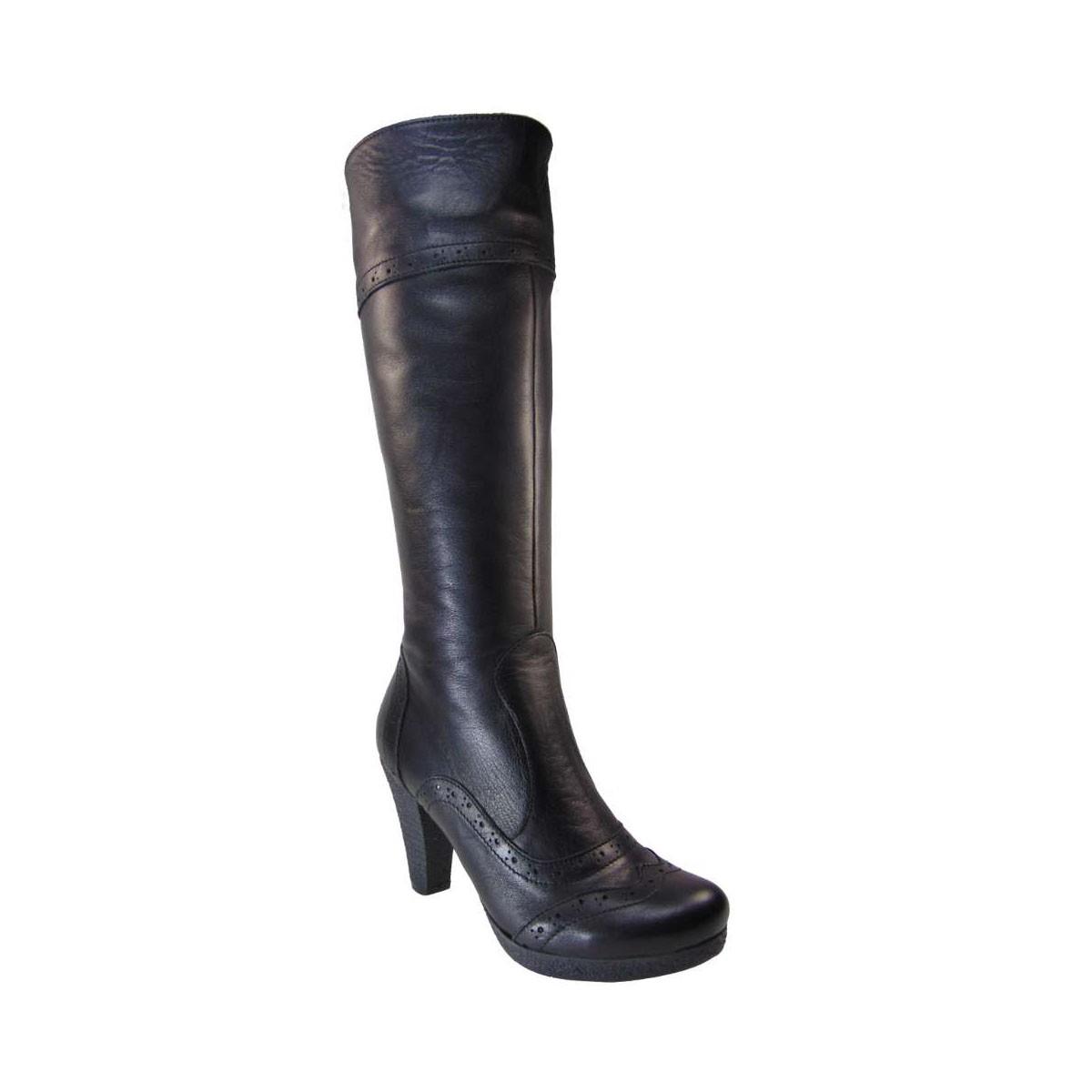 Tsimpolis Shoes 0929 Oxford Μπότα Δερμάτινη Μαύρη