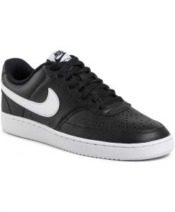 Nike Court Vision Lo CD5463-001 Ανδρικό Δερμάτινο Sneaker Μαύρο