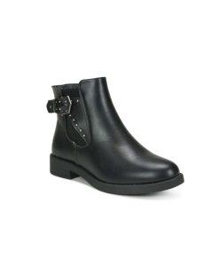 Tsimpolis Shoes TS20126 Μποτάκι Από Τεχνόδερμα Μαύρο