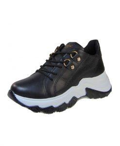 Pegada 219702-06 Γυναικείο Sneaker Δερμάτινο Μαύρο