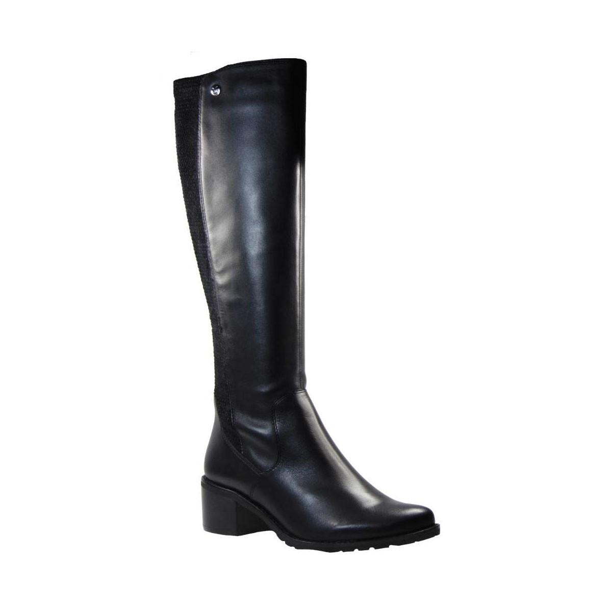 Caprice 9-9-25512-21-022 Ανατομική Μπότα Απο Γνήσιο Δέρμα Μαύρη