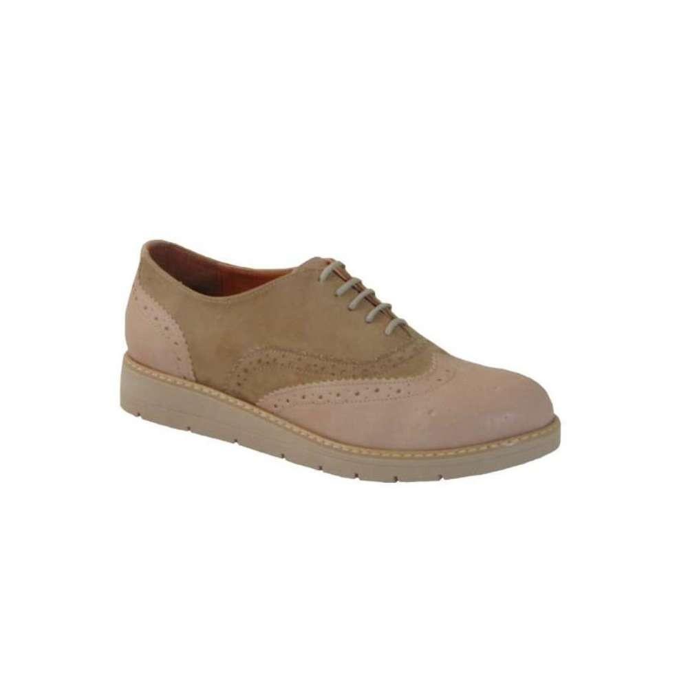 Tsimpolis Shoes 301 Oxford Γυναικείο Από Τεχνόδερμα Ρόζ Απαλό