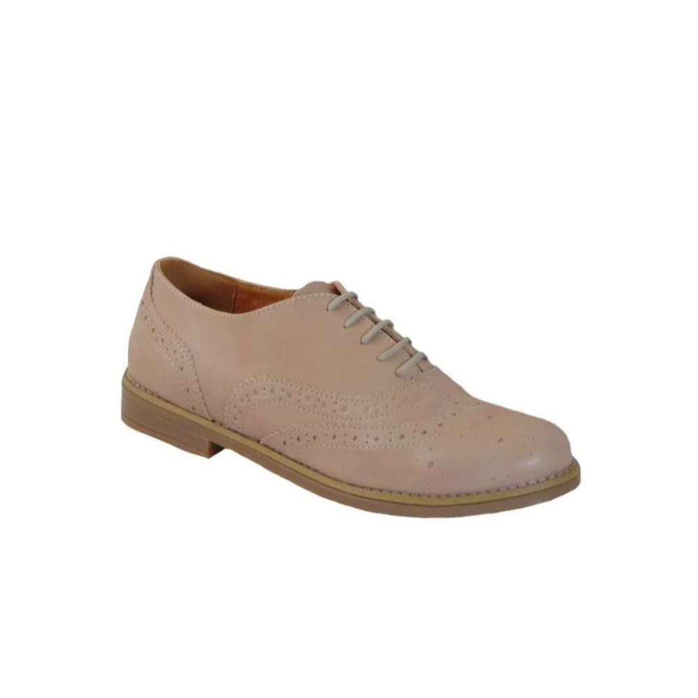 Tsimpolis Shoes 304 Oxford Γυναικείο Από Τεχνόδερμα Ρόζ Απαλό