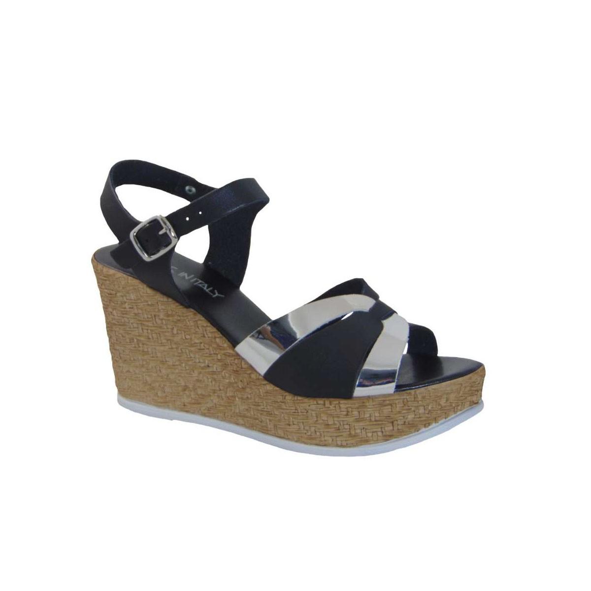 Tsimpolis Shoes 004LZ-2 Πλατφόρμα Από Τεχνοδέρμα Μαύρη