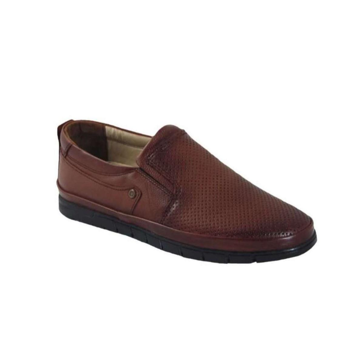 Tsimpolis Shoes 605 Ανδρικό Slip On Δερμάτινο Ταμπά