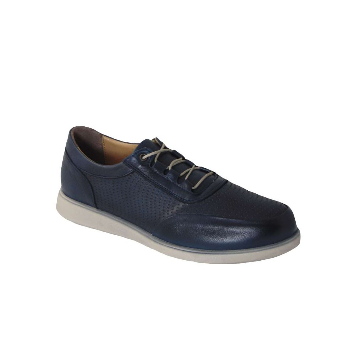 Tsimpolis Shoes 905 Ανατομικό Δερμάτινο Δετό Μπλέ