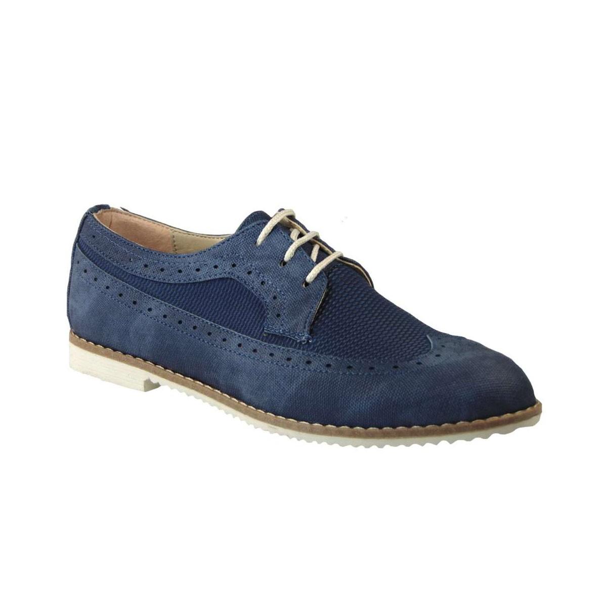 5e9c011292b Tsimpolis Shoes 068 Oxford Γυναικείο Απο Τεχνοδέρμα Μπλε