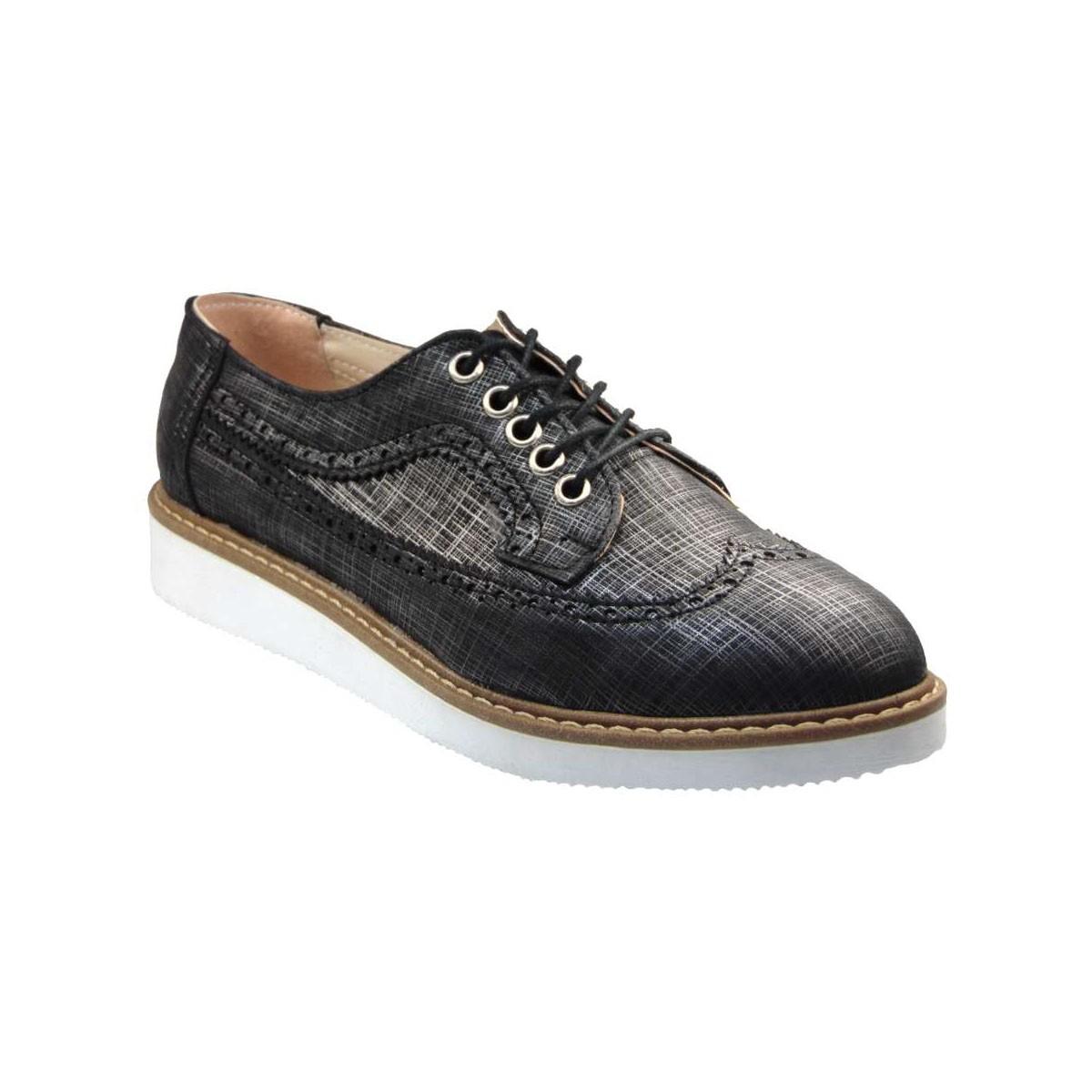 Tsimpolis Shoes 691 Oxford Απο Συνθετικό Δέρμα Μαύρο  86bc7d90274
