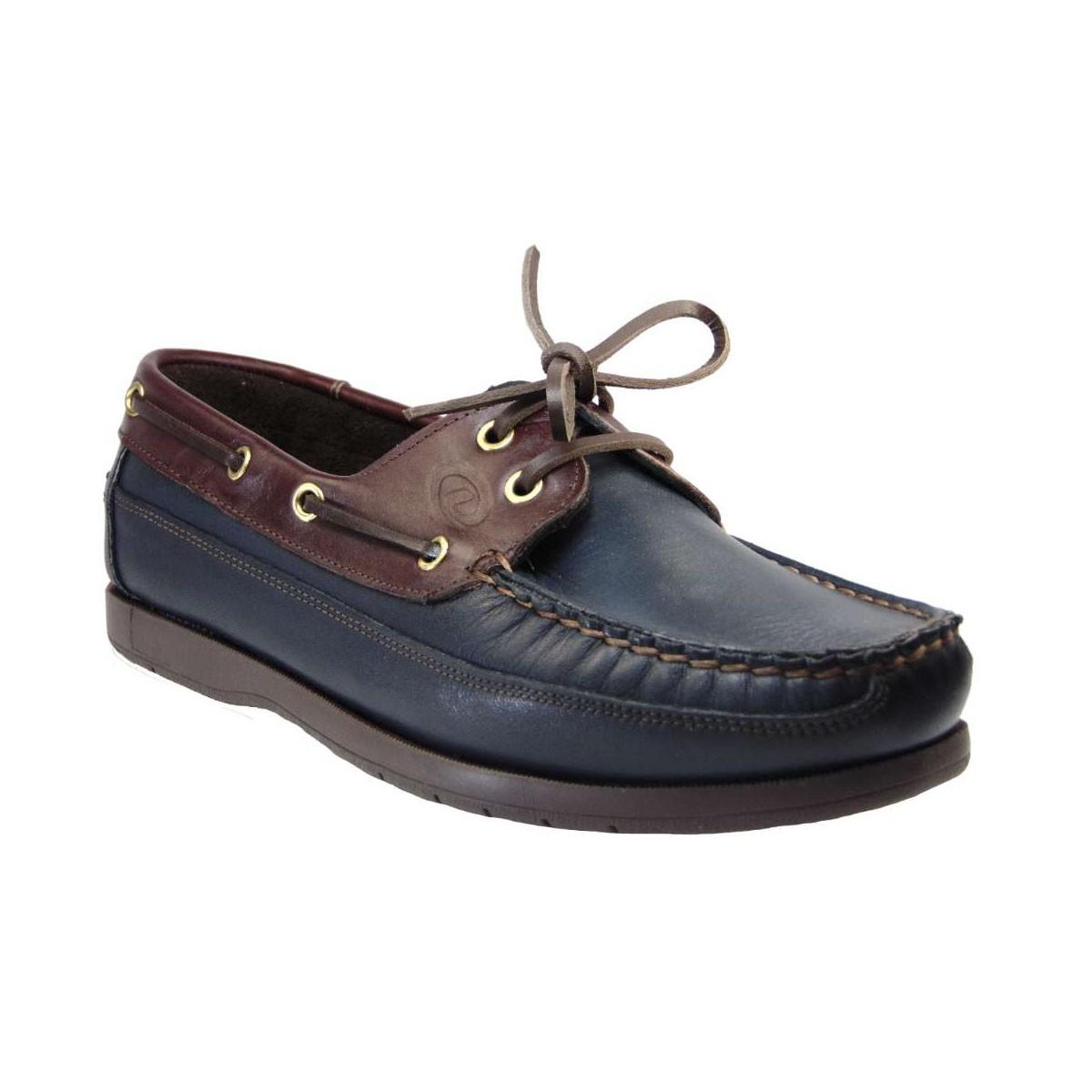 Vantagio 813 Boat Shoe Απο Γνήσιο Δέρμα Μπλε