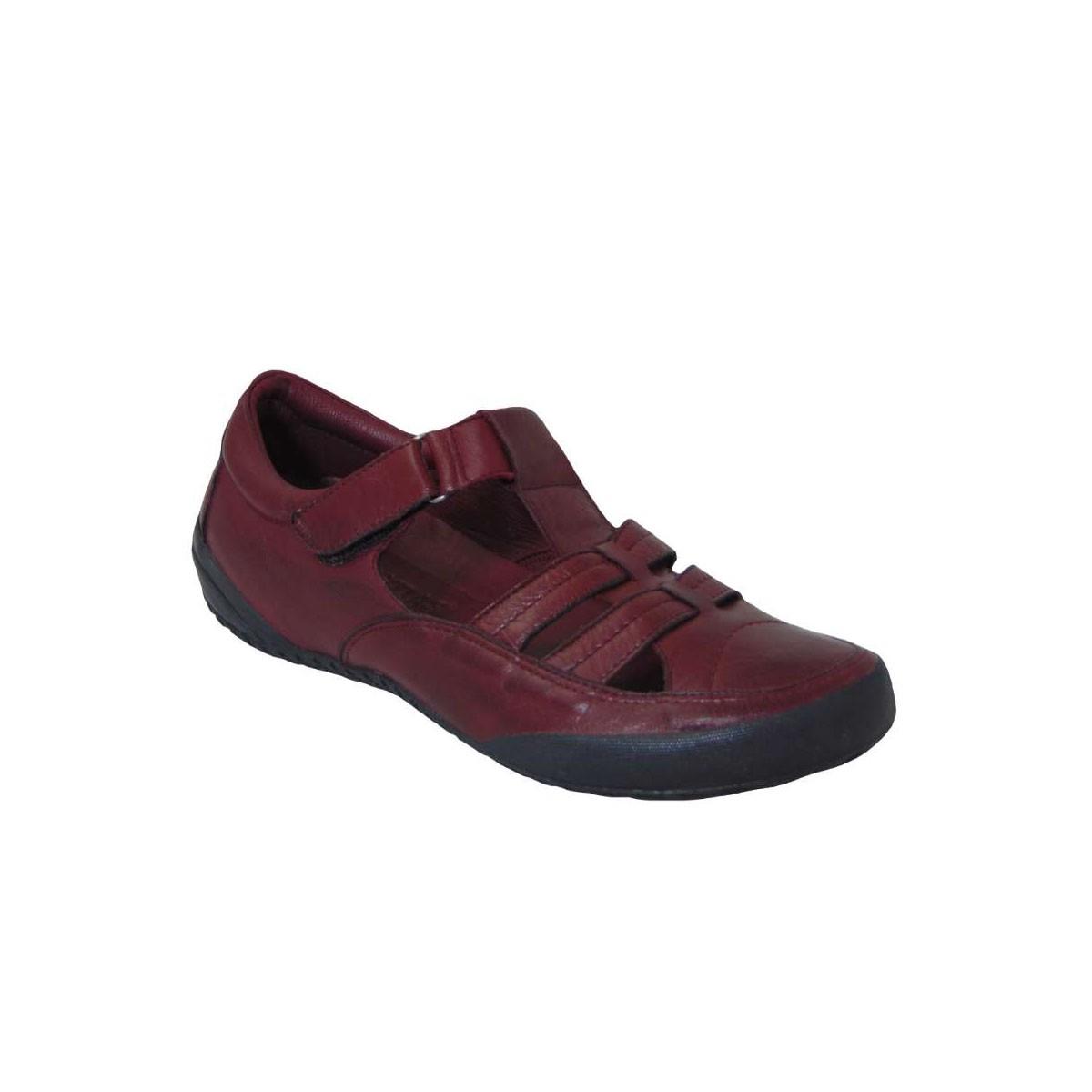 Tsimpolis Shoes 2123 Γυναικείo Casual Δερμάτινo Μπορντό