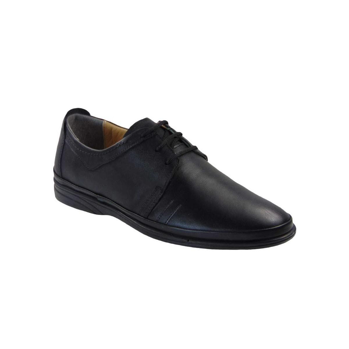 Tsimpolis Shoes 4180 Ανατομικό Δερμάτινο Δετό Μαύρο
