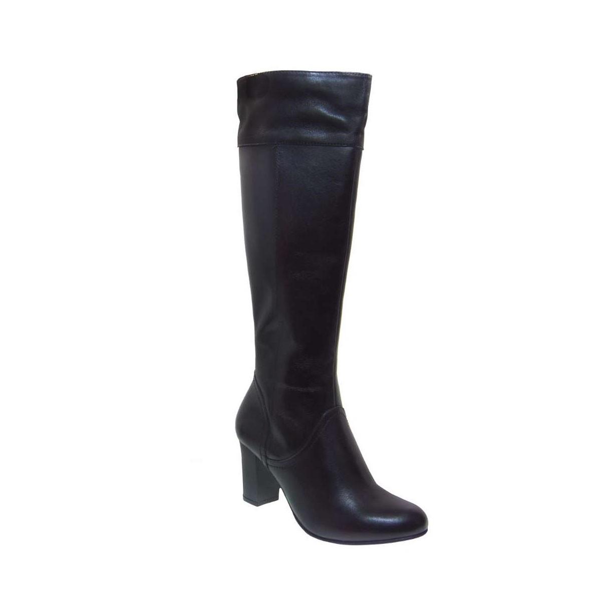 Caprice 25510-022 Ανατομική Μπότα Απο Γνήσιο Δέρμα Μαύρη