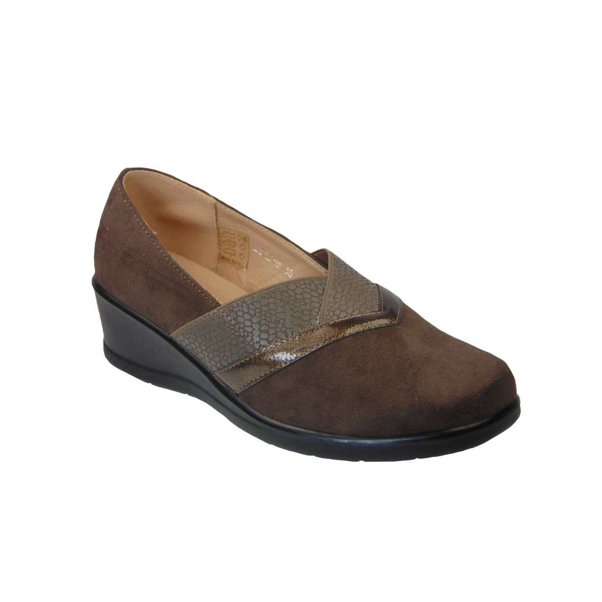 Tsimpolis Shoes ZS12-6 Γυναικείο Slip On Από Τεχνοκαστόρ Καφέ