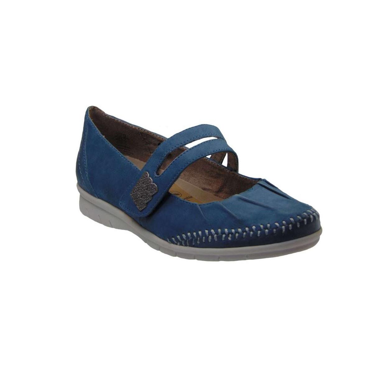 Jana 24611-846 Casual Γυναικείο Απο Γνήσιο Δέρμα Μπλε (Jeans)