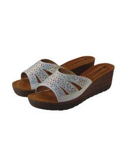 inblu dermatinh anatomikh pantofla leukh tsimpolis shoes