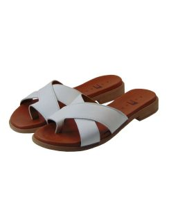 tsimpolis shoes gynaikeia pantofla dermatinh leukh