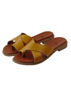 tsimpolis shoes gynaikeia pantofla dermatinh moystardi