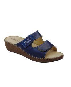 patrizia anatomikh dermatinh pantofla mple tsimpolis shoes