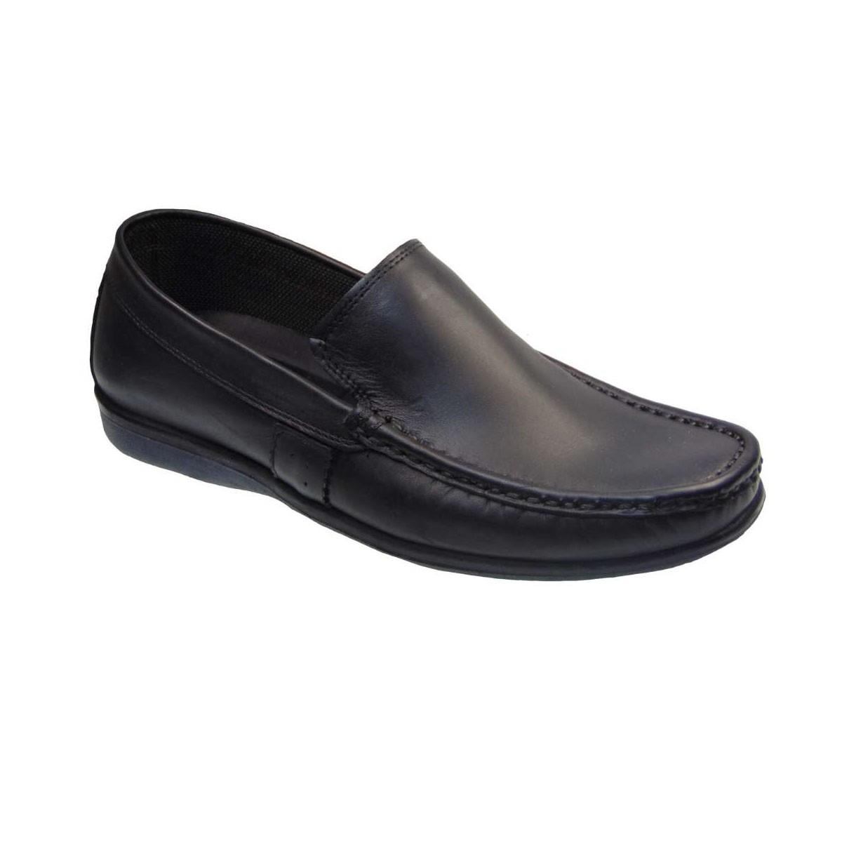 Tsimpolis Shoes 529 Slip On Δερμάτινο Μαύρο