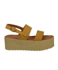 tsimpolis shoes gynaikeia dermatinh platforma moustardi