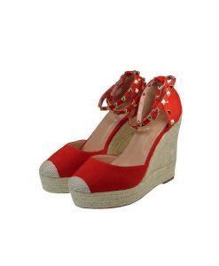 tsimpolis shoes gynaikeia platforma apo texnoderma kokkinh