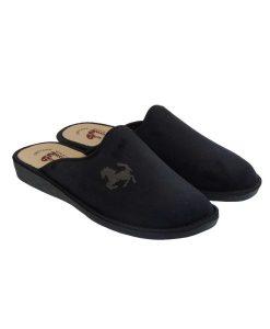 tsimpolis shoes pantofla spitiou apo veloudo mayrh