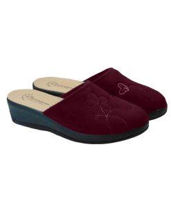 Tsimpolis Shoes 12096 Ανατομική Παντόφλα Σπιτιού Μπορντό