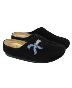 Tsimpolis Shoes 3472 Γυναικεία Παντόφλα Σπιτιού Μαύρο