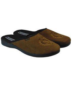 Tsimpolis Shoes S015 Ανδρική Παντόφλα Σπιτιού Κάμελ