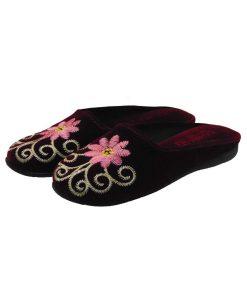 Tsimpolis Shoes N86 Γυναικεία Παντόφλα Σπιτιού Μπορντό