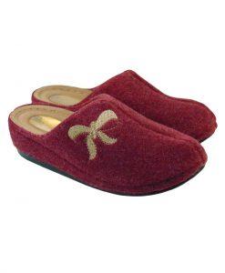 Tsimpolis Shoes 3472 Γυναικεία Παντόφλα Σπιτιού Μπορντό