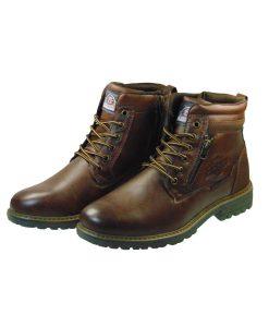 Tsimpolis Shoes 202-1 Ανδρικό Μποτάκι Από Τεχνόδερμα Καφέ