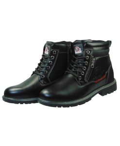 Tsimpolis Shoes 202-1 Ανδρικό Μποτάκι Από Τεχνόδερμα Μαύρο