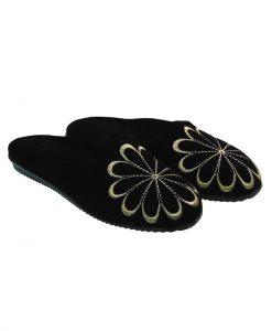 Tsimpolis Shoes N88 Γυναικεία Παντόφλα Σπιτιού Μαύρο