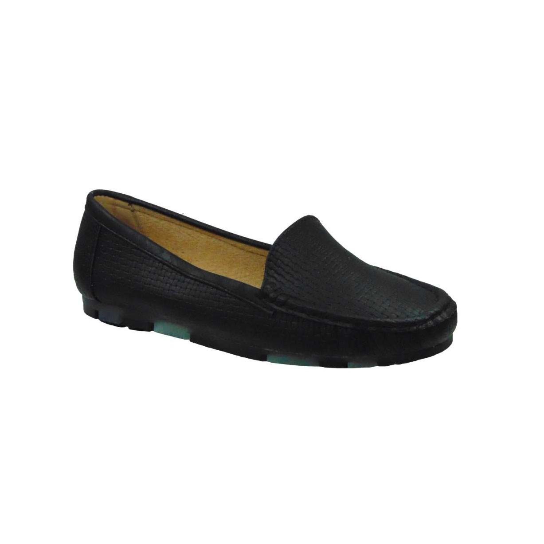 Tsimpolis Shoes TS6483 Γυναικείο Μοκασίνι Από Τεχνόδερμα Μαύρο