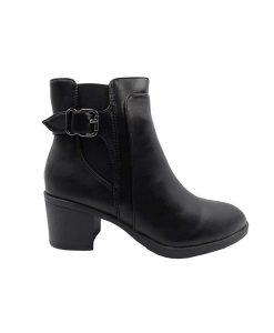 Tsimpolis Shoes TS5539 Μποτάκι Από Τεχνόδερμα Μαύρο