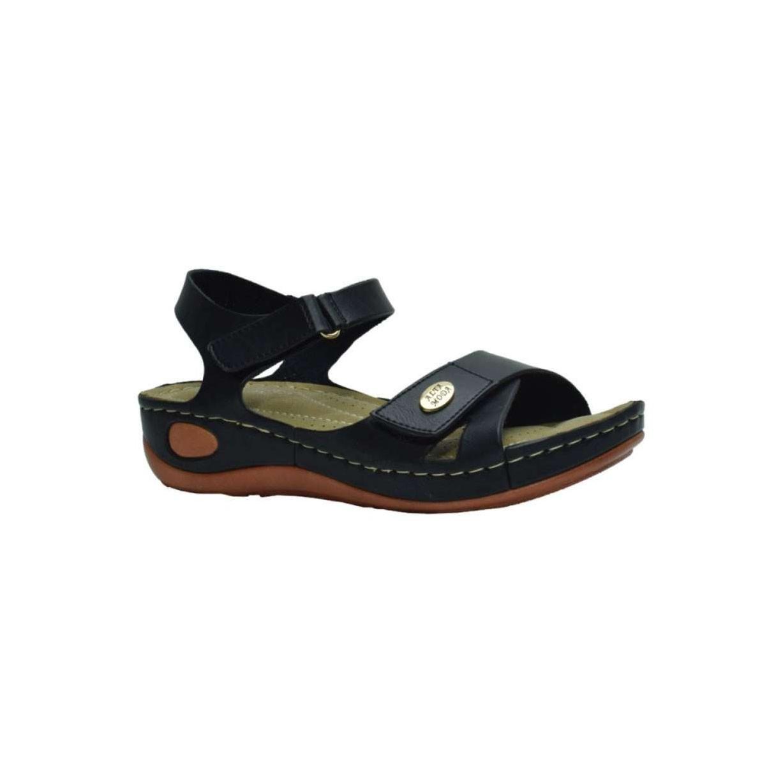 Tsimpolis Shoes TS8200-1 Γυναικείο Ανατομικό Πέδιλο Από Τεχνόδερμα Μαύρο